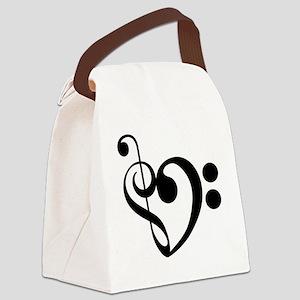 Musical-Heart Canvas Lunch Bag