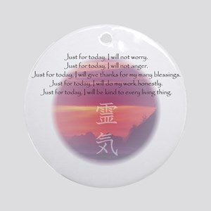 Reiki Principles Ornament (Round)