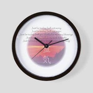 Reiki Principles Wall Clock
