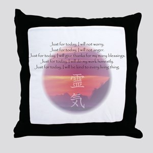 Reiki Principles Throw Pillow