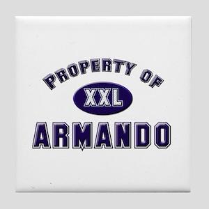 Property of armando Tile Coaster