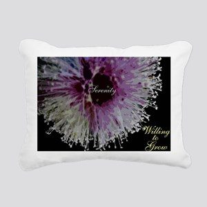 willing to grow floral Rectangular Canvas Pillow