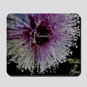 willing to grow floral Mousepad