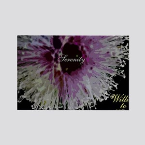 willing to grow floral Rectangle Magnet