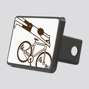 mtb ride fast mud Rectangular Hitch Cover