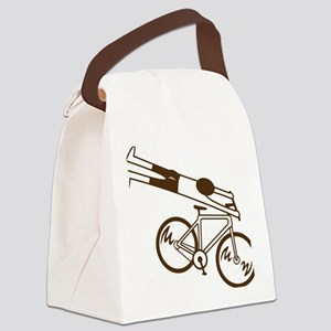 mtb ride fast mud Canvas Lunch Bag