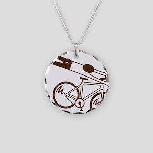 mtb ride fast mud Necklace Circle Charm