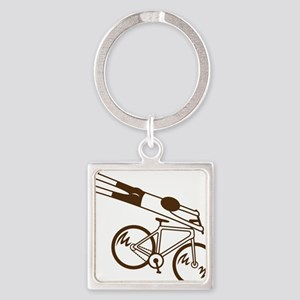 mtb ride fast mud Square Keychain