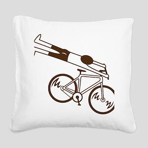 mtb ride fast mud Square Canvas Pillow