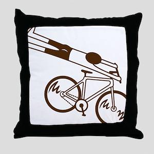 mtb ride fast mud Throw Pillow