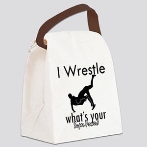 wrestle-freestyle Canvas Lunch Bag