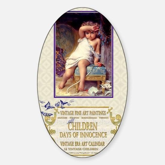 1 A MUNIER BROKEN VASE Sticker (Oval)