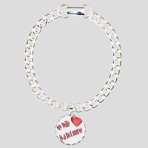 wife-nurse-hot Charm Bracelet, One Charm
