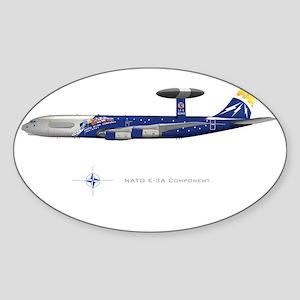 SmallPosterNATOe3anniv Sticker (Oval)