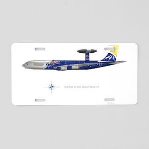 SmallPosterNATOe3anniv Aluminum License Plate