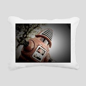 Retro Toy Robby Robot 02 Rectangular Canvas Pillow