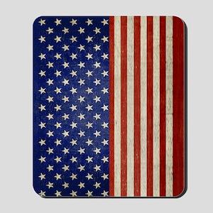 flip_flops_antique_american_flag Mousepad