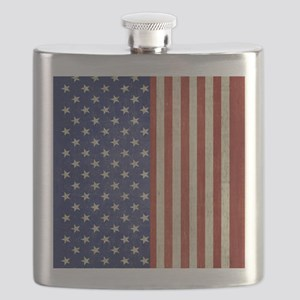 flip_flops_antique_american_flag Flask