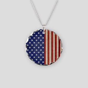 flip_flops_antique_american_ Necklace Circle Charm