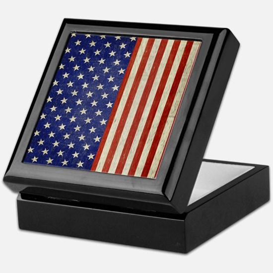 flip_flops_antique_american_flag Keepsake Box