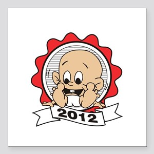 "father112012Wdark Square Car Magnet 3"" x 3"""