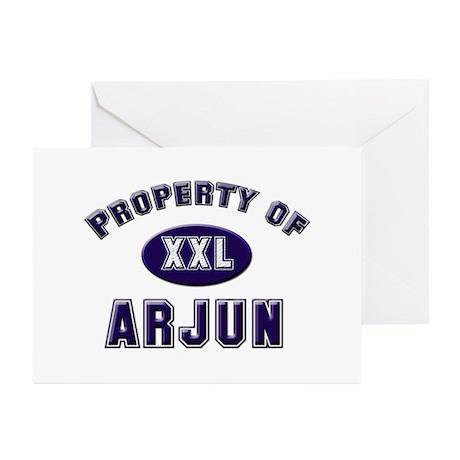 Property of arjun Greeting Cards (Pk of 10)