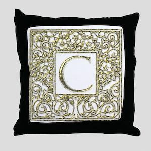 Monogram C Throw Pillow