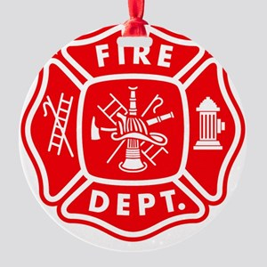 fire department crest pocket Round Ornament