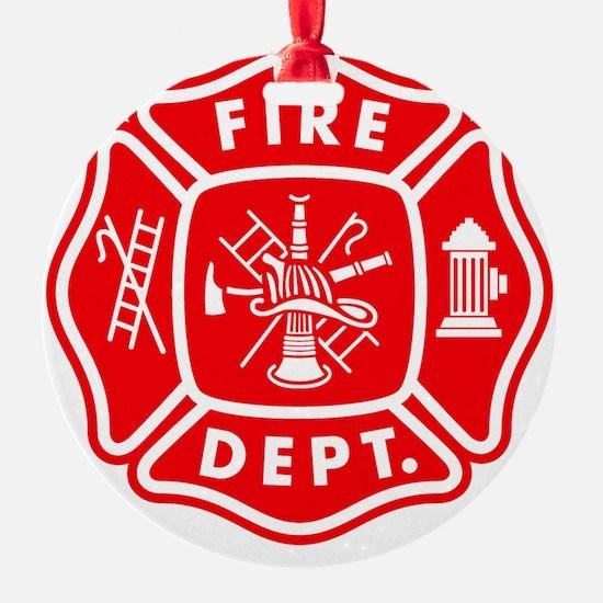 fire department crest pocket Ornament