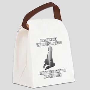 women-coffee Canvas Lunch Bag