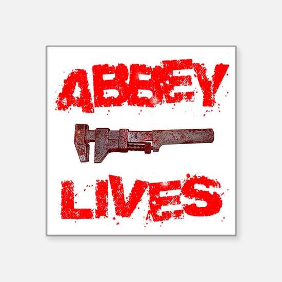 "abbey_lives Square Sticker 3"" x 3"""