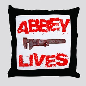 abbey_lives Throw Pillow