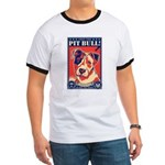 Obey the Pit Bull! USA Ringer T-shirt