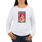 Pit Bull! USA Women's Long Sleeve T-Shirt
