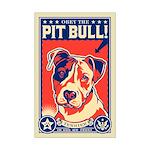 Pit Bull! USA Propaganda Mini Poster Print