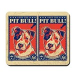 Obey the Pit Bull! USA vintage Mousepad