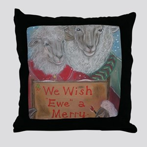 We Wish Ewe A Merry Christmas Throw Pillow