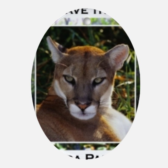 Florida Panther 820 Oval Ornament
