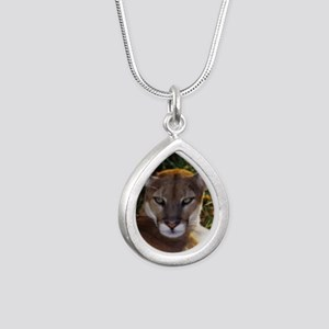 Florida Panther 820 Silver Teardrop Necklace