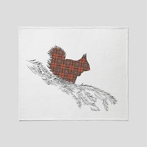 Highland Squirrel Throw Blanket