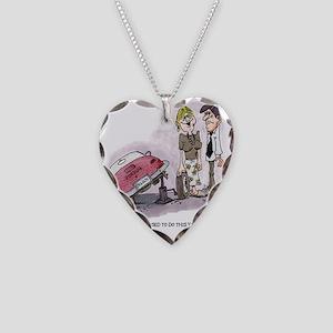 Porsche Babe Necklace Heart Charm