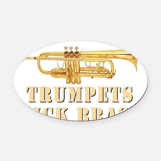 trumpetskickbrass_2_dark Oval Car Magnet