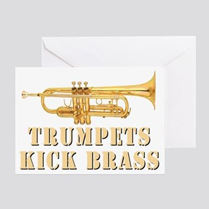 trumpetskickbrass_2_dark Greeting Card