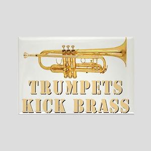 trumpetskickbrass_2_dark Rectangle Magnet