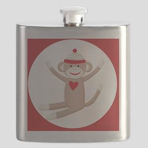 Sock Monkey Sticker Flask