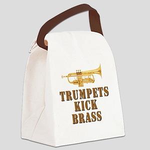 trumpetskickbrass_2_smalls Canvas Lunch Bag