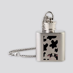 Cow iPhone Case Cow Pattern Flask Necklace