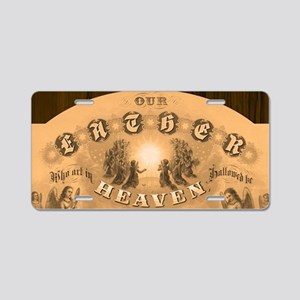 Our Father Aluminum License Plate