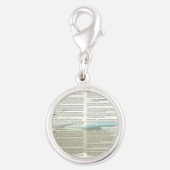 A World With CRPS - Memo Style Silver Round Charm
