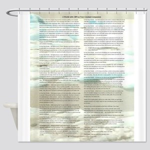 A World With CRPS - Memo Style 17 x Shower Curtain